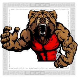 Wrestling Mascot Bear