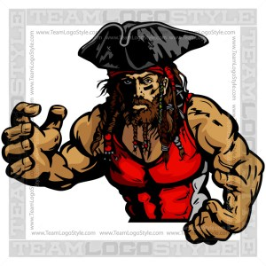 Wrestling Mascot Pirate