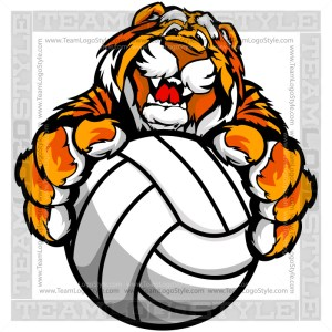 Tiger Volleyball Clip Art