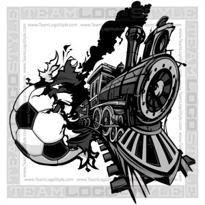 Train Busting out of Soccer Ball