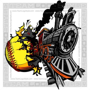 Train Busting out of Softball
