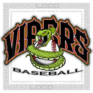 Viper Baseball Team Logo