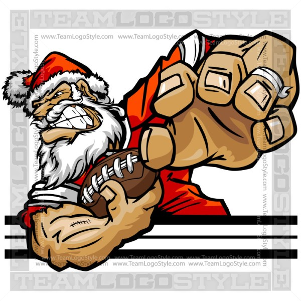 Football Santa Claus Clip Art