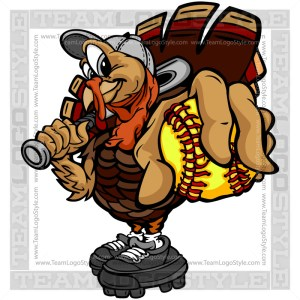 Thanksgiving Softball Clip Art