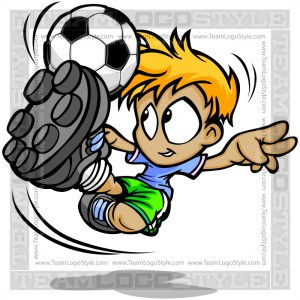 Soccer Boy Clip Art Vector Cartoon Image