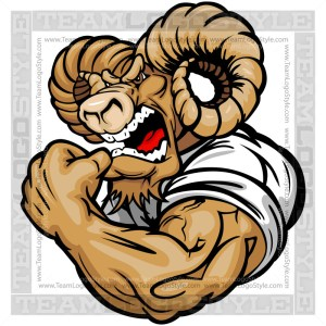 Muscular Ram Cartoon