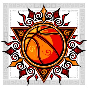 Graphic Basketball Sun