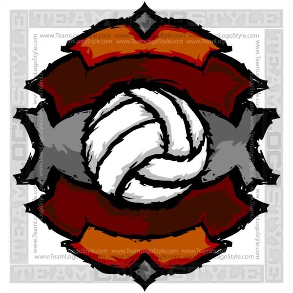 Graphic Volleyball Artwork