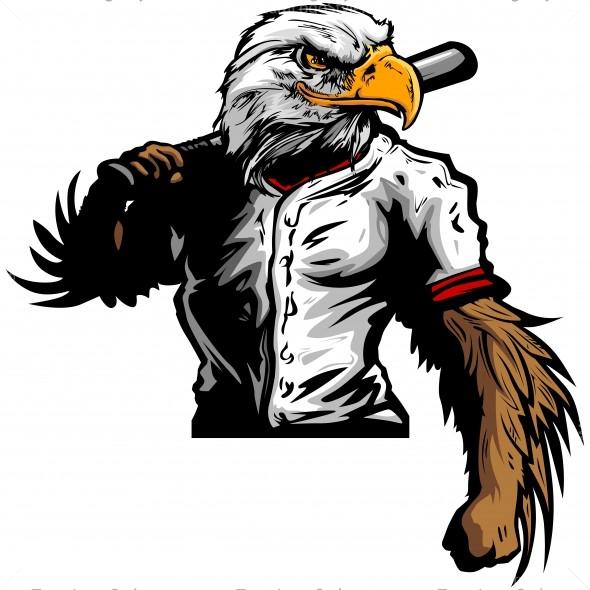Eagle Baseball Player Clip Art