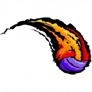 Volleyball Swoosh Graphic