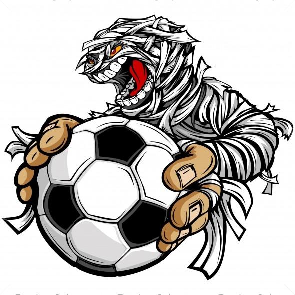 Mummy Soccer Clip Art