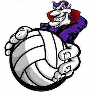 Vampire Holding Volleyball