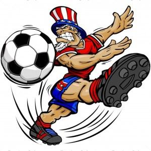 July 4th Soccer Clip Art