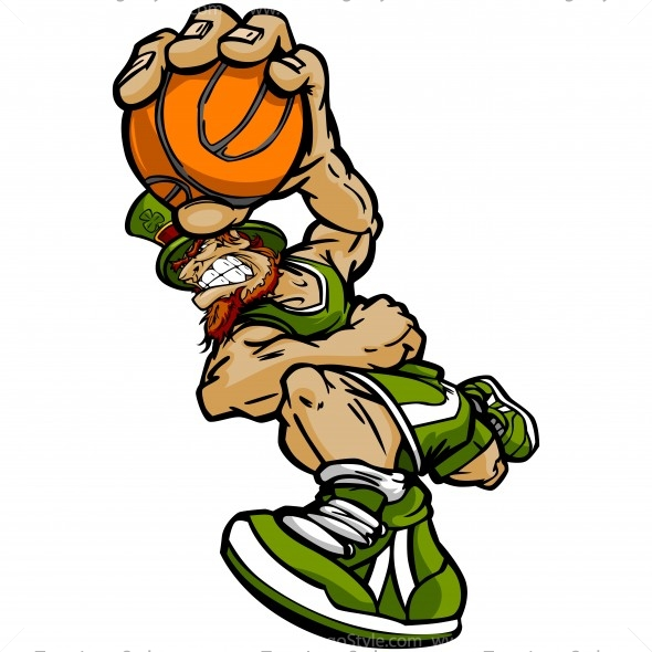 St Patricks Day Basketball Clip Art