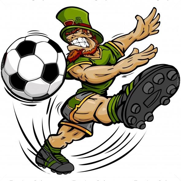 St Patricks Day Soccer Clip Art