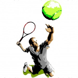 Tennis Player Graphic