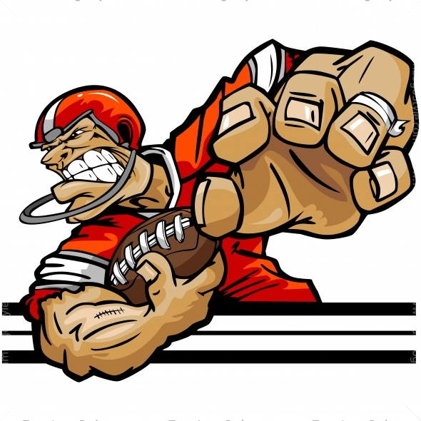 Football Player Cartoon