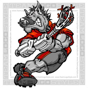 Razorback Lacrosse Player