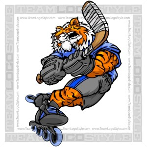 Tiger Roller Hockey Player