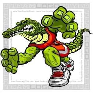 Wrestling Gator Cartoon