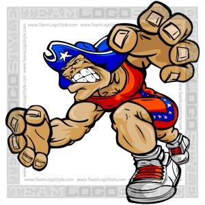 Wrestling Patriot Cartoon