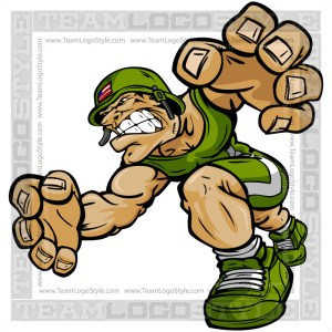 Wrestling Soldier Cartoon
