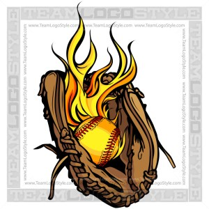 Flaming Softball Logo