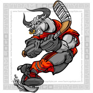 Bull Hockey Player