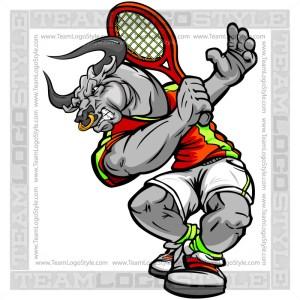 Bull Tennis Player