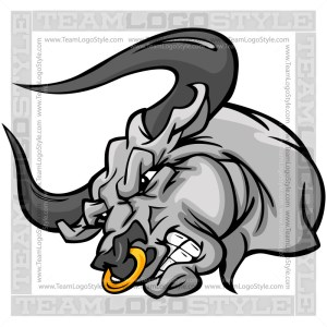 Cartoon Bull Head