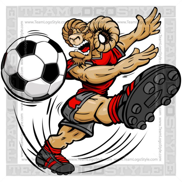 Soccer Bighorn Cartoon