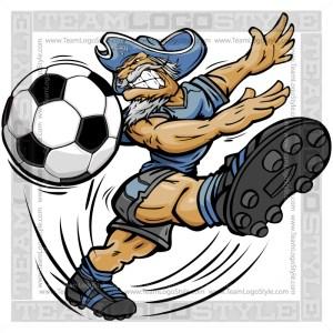 Soccer General Cartoon
