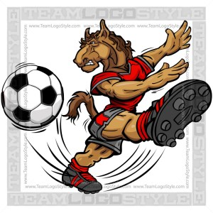 Soccer Mustang Cartoon