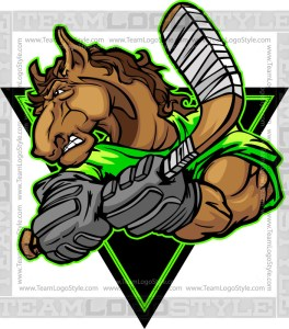 Bronco Hockey Clip Art