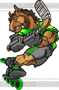 Bronco Roller Hockey Clipart