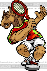 Bronco Tennis Clipart