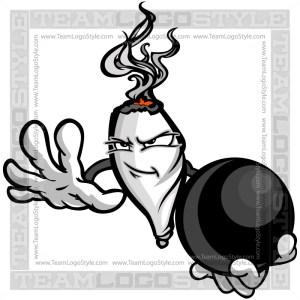 Bowling Marijuana Joint Character