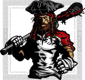 Pirate Lacrosse Clipart