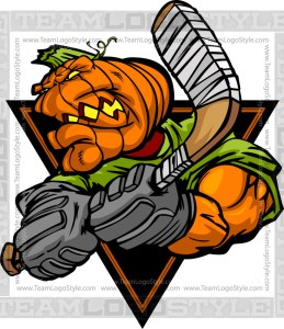 Pumpkin Hockey Cartoon