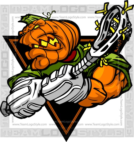 Pumpkin Lacrosse Cartoon