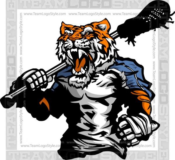Tiger Lacrosse Clipart