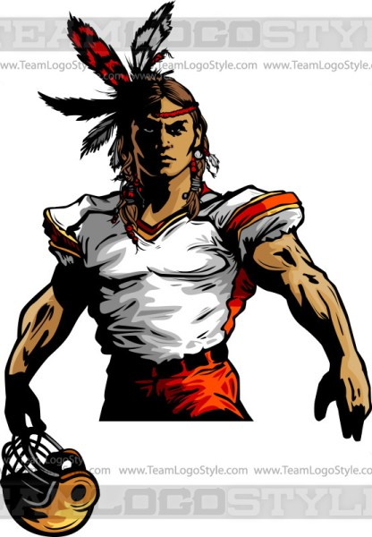 Warrior Football Clipart