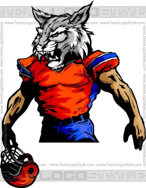 Wildcat Mascot Football
