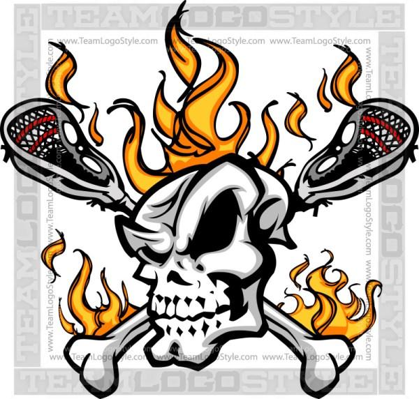 Lacrosse Skull Graphic