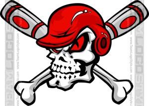 Skull Baseball Clip Art