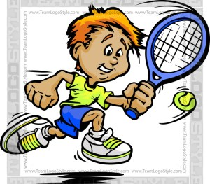 Tennis Kid Clipart