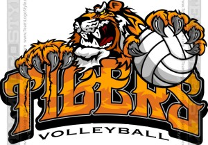 Tiger Volleyball Logo