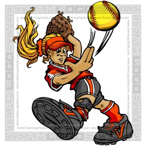 Softball Player Clip Art