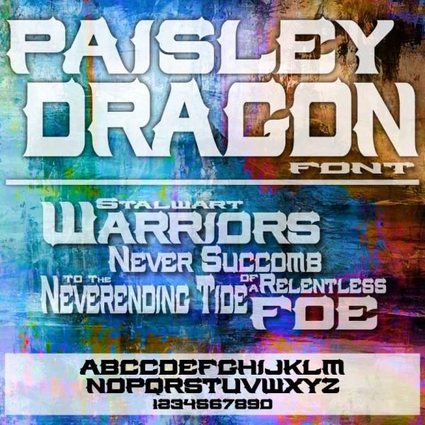 Paisley Dragon Font