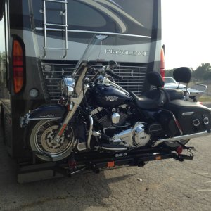 Power bike rack RV travel
